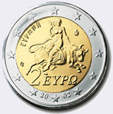 Монеты евро Греции (Греция)