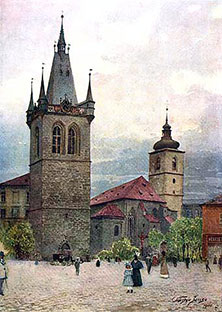 Популярные достопримечательности Праги - Йиндржишская башня