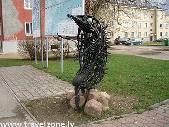 скульптура Ежик Каливипоэга (Йыхви, Эстония)