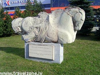 памятник Почтовым лошадям (Йыхви, Эстония)