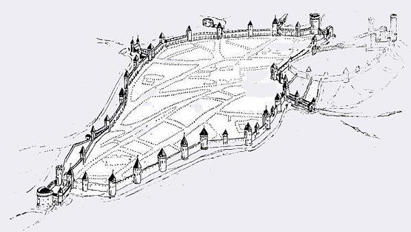 Башни и крепостная стена Таллина (Эстония)