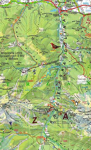 карта Кошчелинской долины (Татры, Польша)
