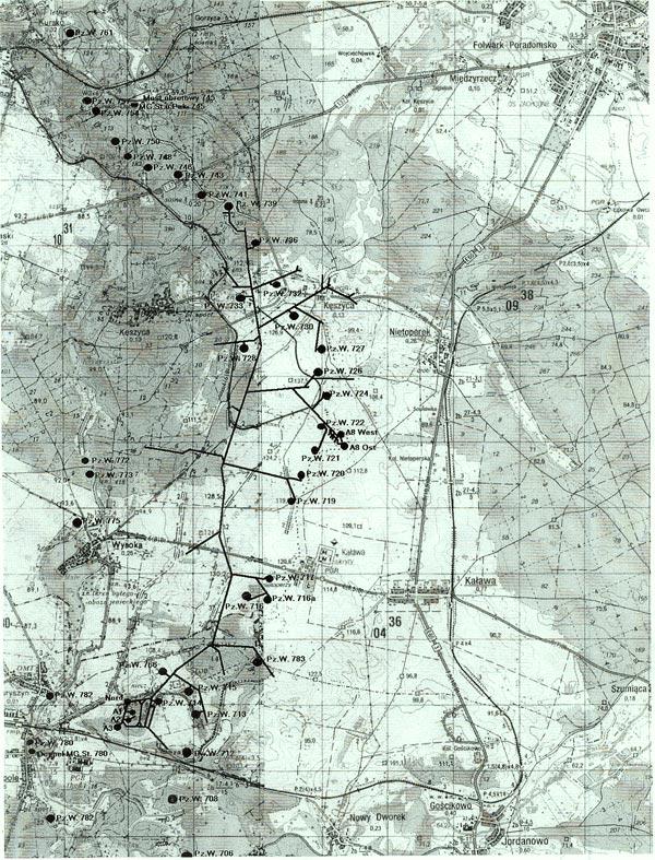 карта Лагеря дождевого червя (Regenwurmlager, Польша)