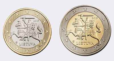 Монеты евро Литвы