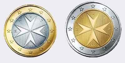 Монеты евро Мальты