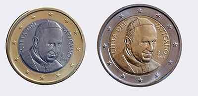Монеты евро Ватикана