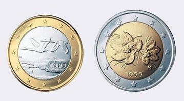 Монеты евро Финляндии