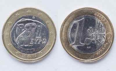 Монеты евро Греции