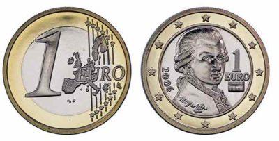 Монеты евро Австрии