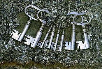 Герб, флаг, печать, и ключ Риги