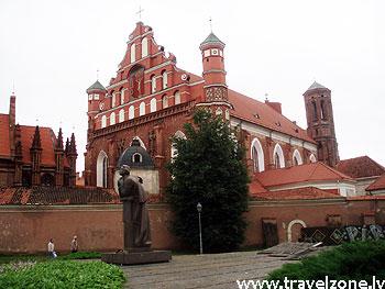 Кафедральный собор, костел Святой Анны и монастырь бернардинцев